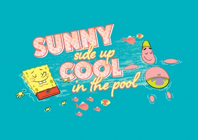 Sunny side up in the pool - Spongebob and Patrick taking a dip
