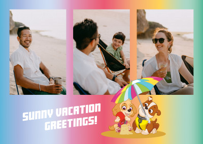 PAW Patrol Sunny vacation greetings