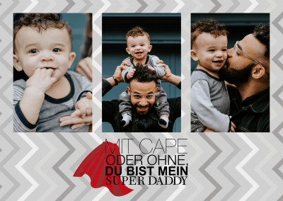 Over-Night-Design Mit Cape oder ohne du bist mein Super Daddy