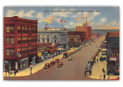 Superior, Wisconsin, Tower Avenue looking north