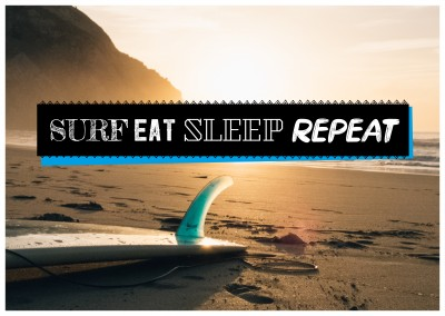 Foto Spruch Surf Eat Sleep Repeat