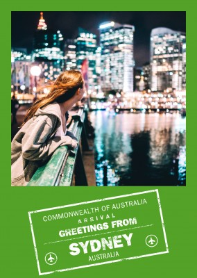 greeting card Greetings from Sydney