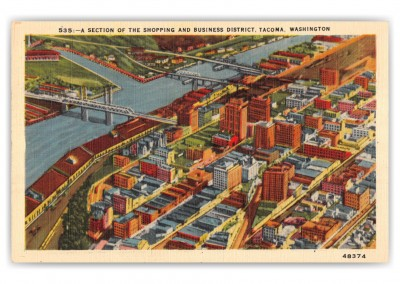 Tacoma, Washington, shopping and business district