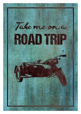 illustration von altem Motorrad auf vintage background