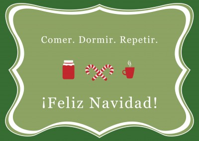 tarjeta de felicitación de la Navidad