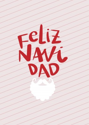 Feliz Navidad tarjeta de felicitación