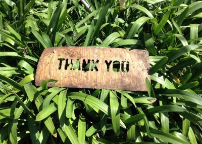 thank you postcard sign vintage