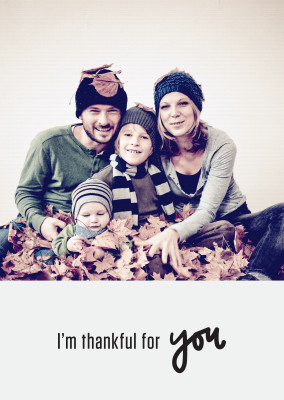Thankful for you. Black text on light background.