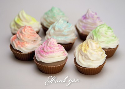 thank you decorated with cupcakes