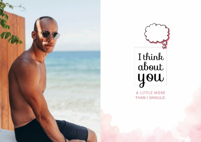thinking of you quote card denke an dich liebeskarte