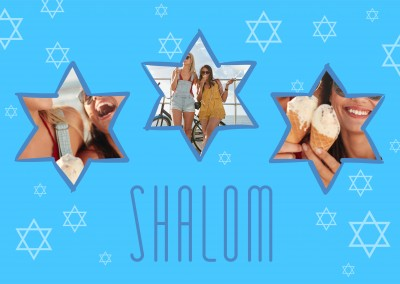 Three own fotos, Shalom