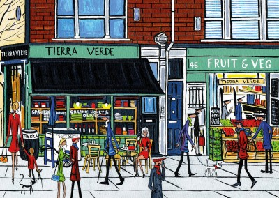 Illustration du Sud de Londres, l'Artiste Dan Tierra verde Fruits
