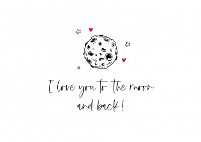 Meridian Design I love you to the moon and back!