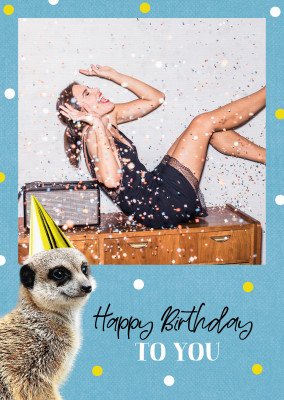 CARTELINA postcard Happy Birthday To You
