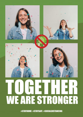 Together we are stronger postcard