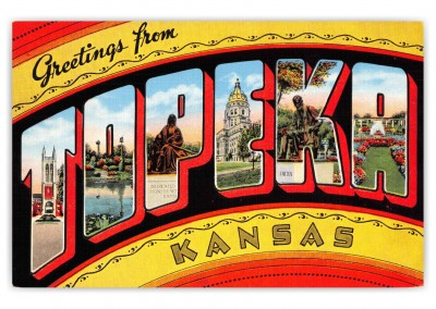 Topeka Kansas Large Letter Greetings