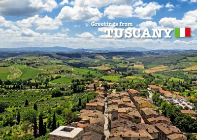 Photo landscape of tuscany