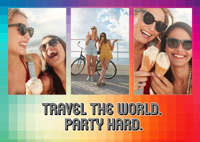 IGLTA travel the world. party hard quote