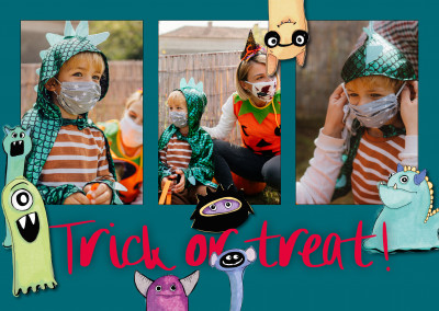 postcard Trick or treat