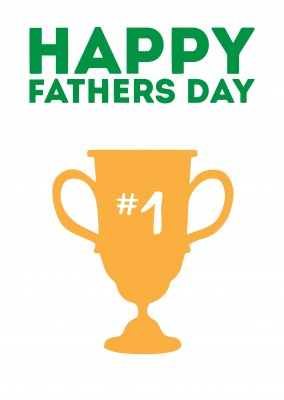 Happy Fathers Day - Trophy