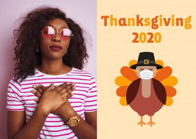 Thanksgiving 2020 - Turkey wearing a face mask