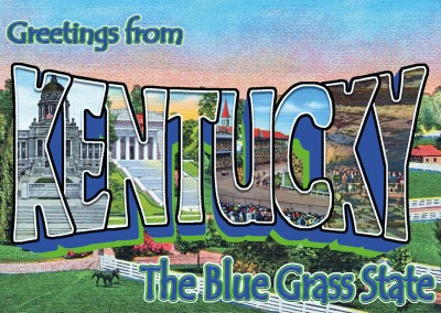 Kentucky vintage greeting card