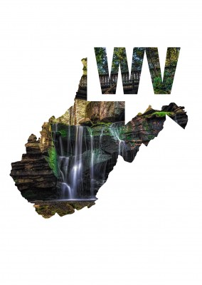 Foto Wasserfall in dne Wäldern West Virginia