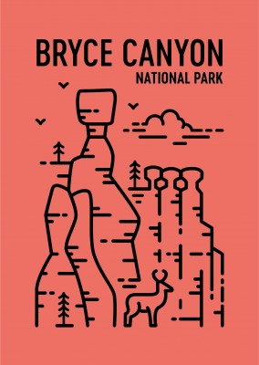 Bryce Canyon National Park Grafica