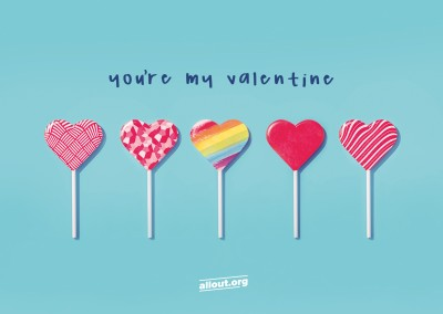 greeting card ALL OUT You're my Valentine