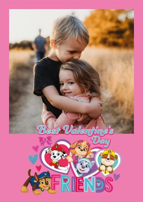 PAW Patrol Postkarte Best Valentine's Day Friends