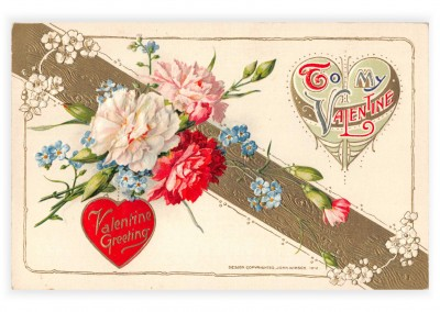 Mary L. Martin Ltd. vintage Postkarte To my Valentine