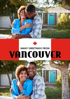 Vancouver groeten red white met maple leaf