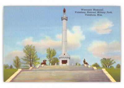 Vicksburg, Mississippi, Wisconsin Memorial, Vicksburg National Military Park