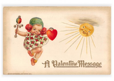 Mary L. Martin Ltd. vintage Postkarte  Valentine message