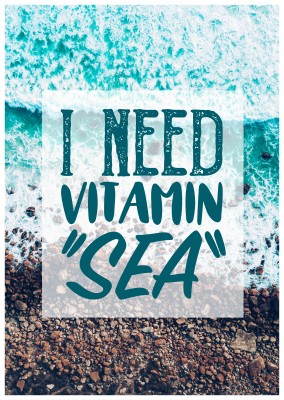 postcard saying I need vitamin sea