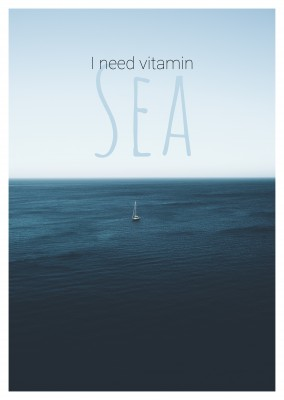 I need vitamin sea Spruchkarte