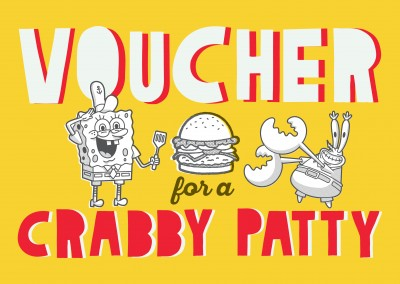 Voucher for a crabby patty - Spongebob burger