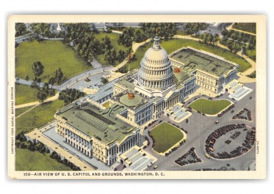 Washington DC, air view of the Capitol