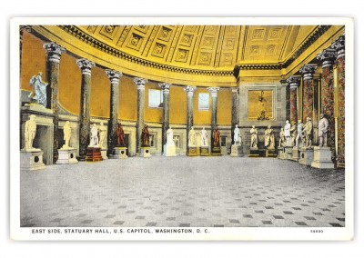 Washington DC, East Side, Statuary Hall, US Capitol