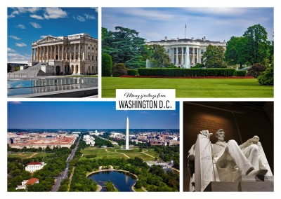 multipicturew fotocollage von washington dc