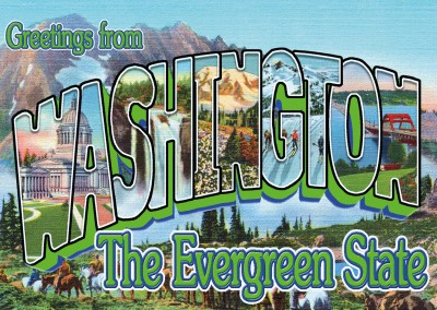 Washington Estilo Retro Postal