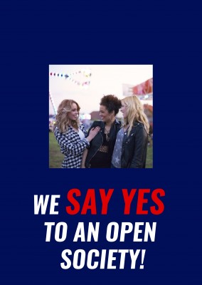 We say yes to an open society!