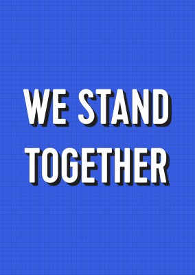postcard JAIL MAIL We stand together