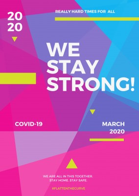 we stay strong design postcard