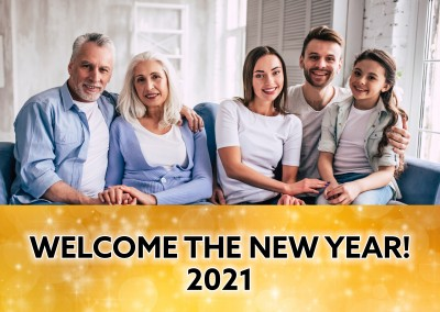 Welcome the new year 2021