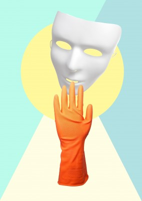 Kubsitika mask with rubber glove