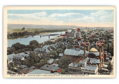 Wilkes-Barre, Pennsylvania, north from Miners Bank building
