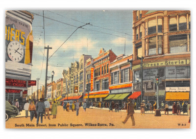 Wilkes-Barre, Pennsylvania, South main street from public square