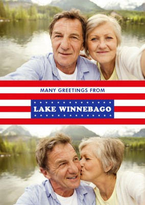 Lake Winnebago in US Flag design