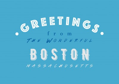 Greetings from the wonderful Boston